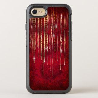 Reflejo rojo de rubíes de la cortina del filamento funda OtterBox symmetry para iPhone 7
