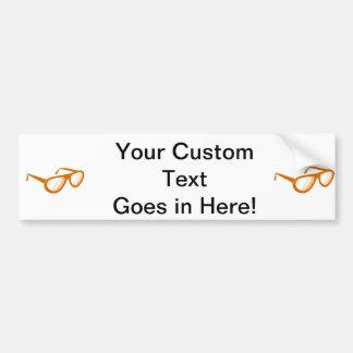 reflexión anaranjada de las gafas de sol pegatina para coche