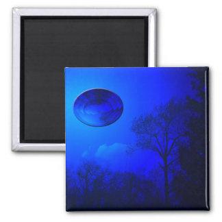 Reflexión azul imán