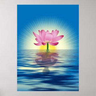 Reflexión de Lotus Póster
