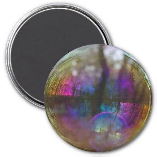 Reflexión de maderas en imán de la burbuja