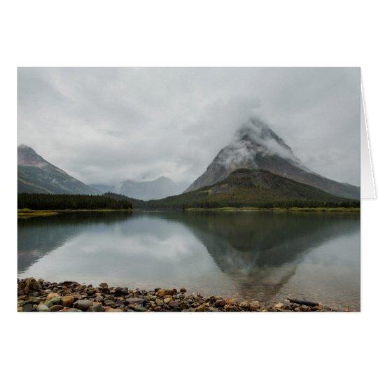 Reflexión de montañas - glaciar NP Tarjeta De Felicitación