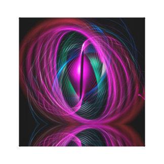 Reflexión eléctrica del remolino impresión en lienzo