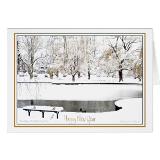 Reflexión: En Año Nuevo: Jardín público de Boston Tarjeta De Felicitación