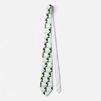 Reflexión verde de la hoja en tema del agua corbatas