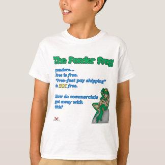 Reflexione Rana-Libre Camisetas