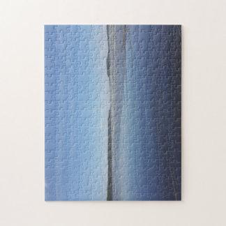 Reflexiones azules del rompecabezas de la foto de