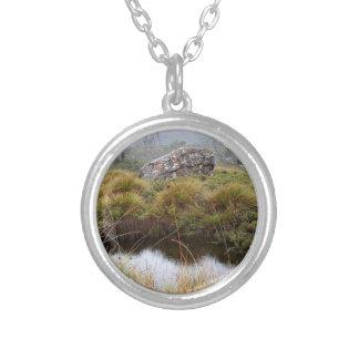 Reflexiones brumosas de la mañana, Tasmania, Collar Plateado