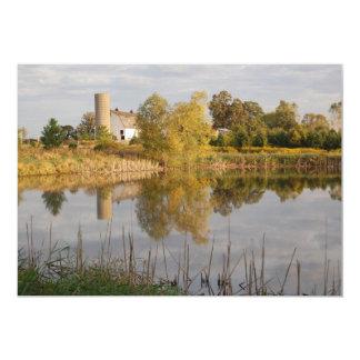 Reflexiones de la granja invitación 12,7 x 17,8 cm