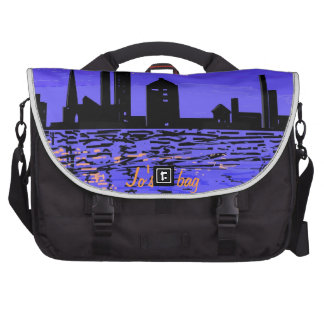 Reflexiones de la noche en bolsos del viajero bolsa de ordenador