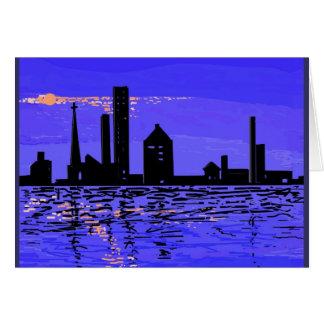Reflexiones de la noche en productos múltiples tarjeta de felicitación