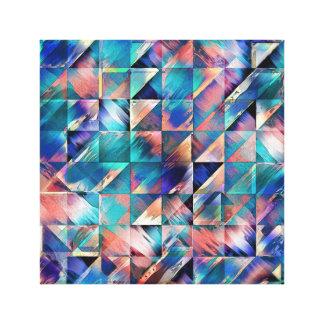 Reflexiones de textura de la turquesa impresión en lienzo