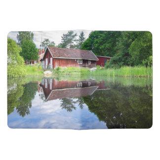 Reflexiones del hogar del lago house ideal de la cuaderno extra grande moleskine