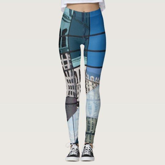 Reflexiones en azul leggings