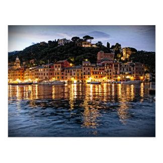 Reflexiones en Portofino, postal de Italia