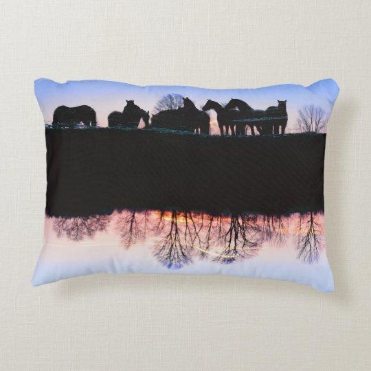 Reflexiones frisias de la puesta del sol cojín decorativo