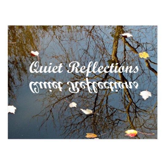 Reflexiones reservadas postal