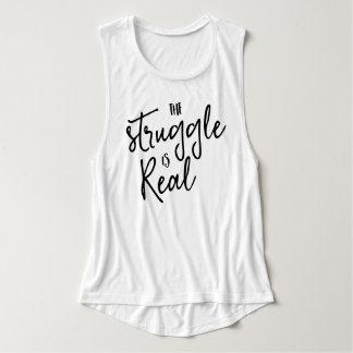 Refrán divertido de la tipografía de moda camiseta con tirantes