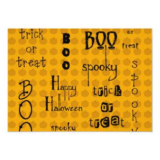 Refranes de Halloween Invitación 12,7 X 17,8 Cm