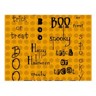 Refranes de Halloween Postal