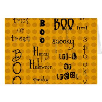 Refranes de Halloween Tarjeta De Felicitación