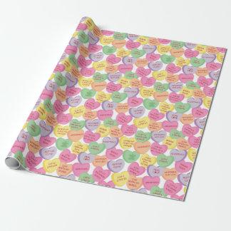 Refranes del caramelo del corazón de la tarjeta papel de regalo
