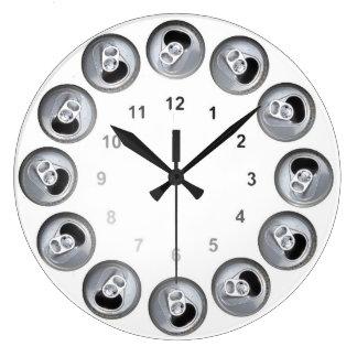 Refresque 12 paquetes reloj de pared