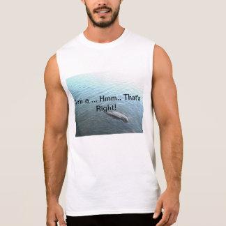 Refresque el diseño inmóvil del agua con lema atra camiseta sin mangas