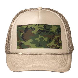 refresque el efecto de la imagen del camuflaje gorras de camionero
