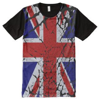 Refresque la bandera torcida de Union Jack del Camisetas Con Estampado Integral