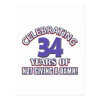 Refresque los diseños 34 años postal