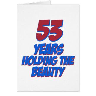 refresque los diseños del cumpleaños de 52 años tarjeta de felicitación