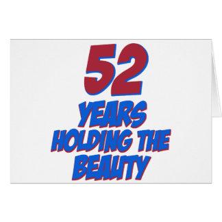 refresque los diseños del cumpleaños de 52 años tarjetón
