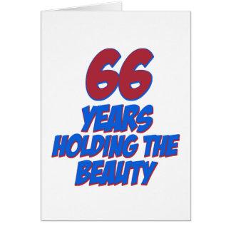 refresque los diseños del cumpleaños de 66 años tarjeta de felicitación