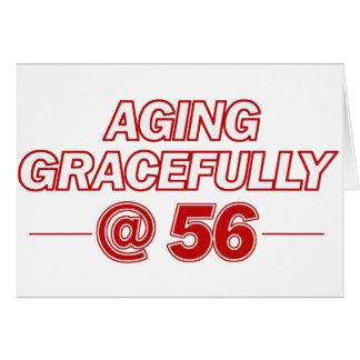 refresque los regalos de 56 años tarjeta de felicitación