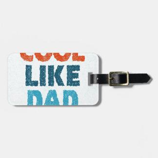 refresqúese como papá etiqueta para maletas