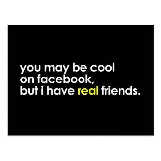 Refresqúese en facebook tarjetas postales