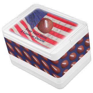 Refrigerador patriótico del iglú del fútbol,