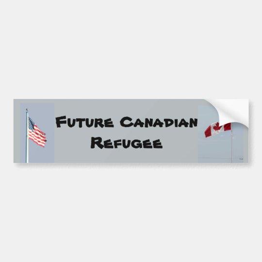 Refugiado canadiense futuro pegatina para coche