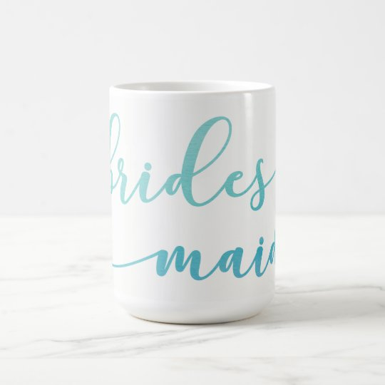 Regalo 2 de la dama de honor de la acuarela de taza de café