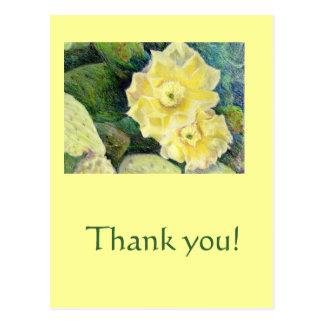 Regalo amarillo de la flor del flor del cactus postal