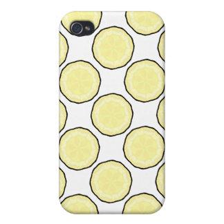 Regalo amarillo y del blanco fresco lindo i iPhone 4 funda