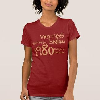 Regalo an o 80 del Brew del vintage del año del Camisetas