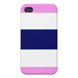 Regalo azul y blanco rosado fresco lindo del caso iPhone 4/4S fundas