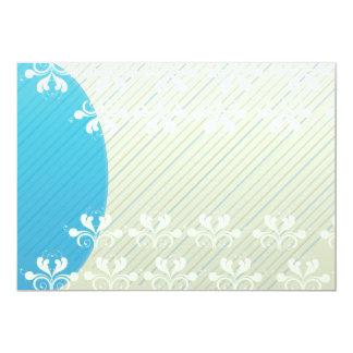 Regalo blanco elegante de la tarjeta del día de invitación 12,7 x 17,8 cm