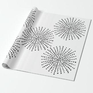 Regalo blanco y negro del modelo de la explosión papel de regalo