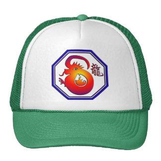 Regalo chino de la muestra del dragón del zodiaco gorras