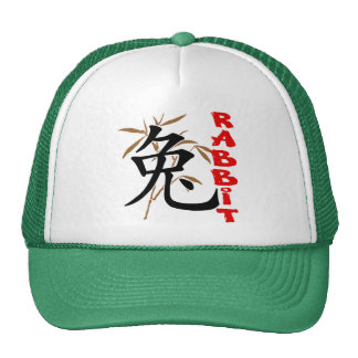 Regalo chino del símbolo del conejo gorro de camionero