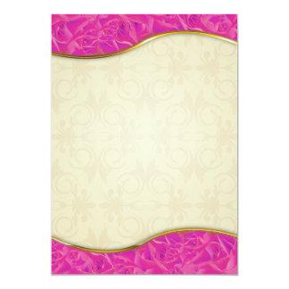 Regalo color de rosa rosado expresivo de la invitación 12,7 x 17,8 cm