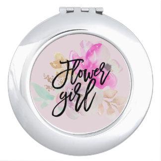 Regalo compacto floral del espejo del florista
